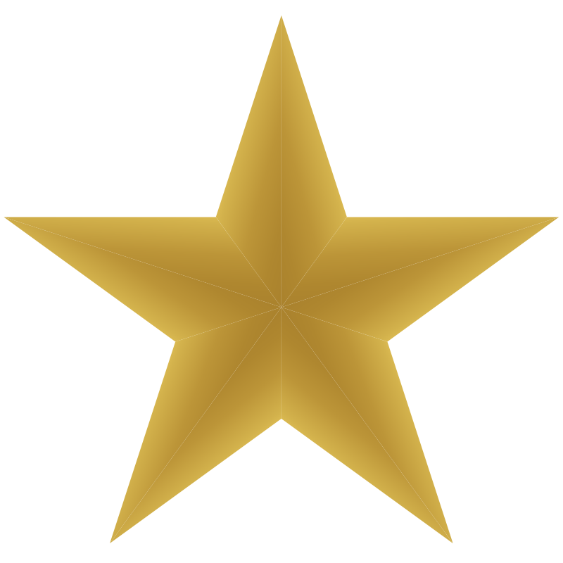 gold star clipart yellow