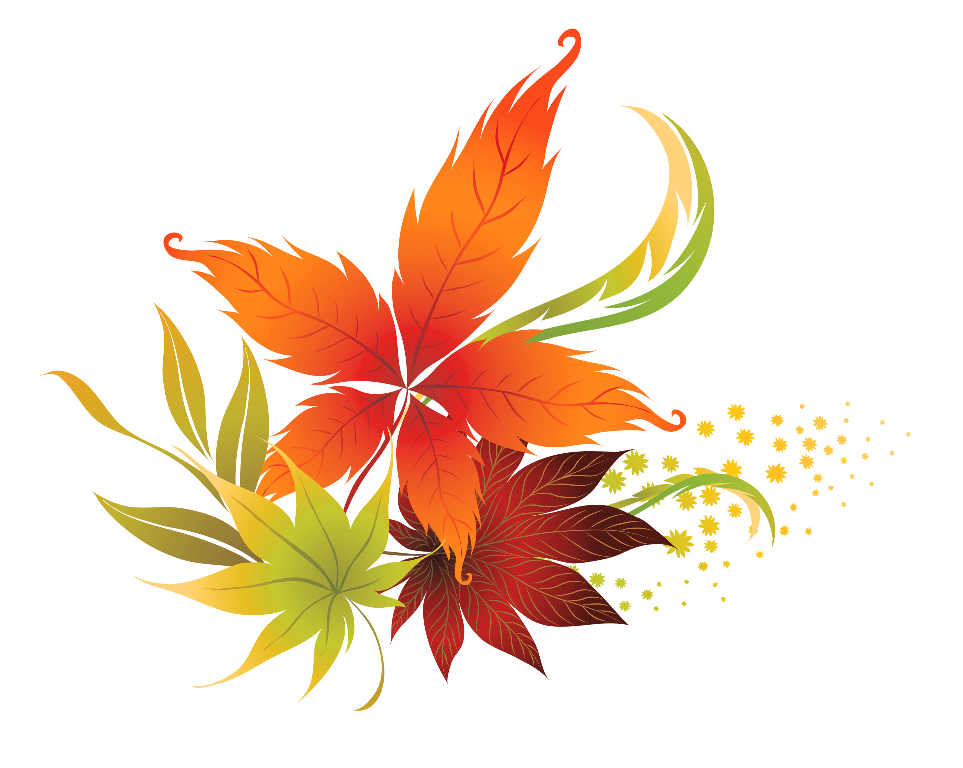 fall leaves clipart clear background