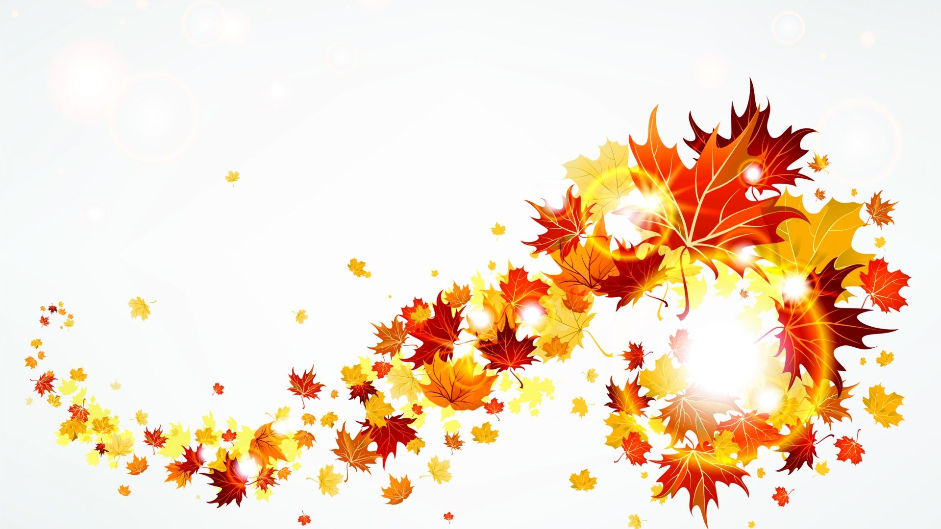 fall leaves clipart banner