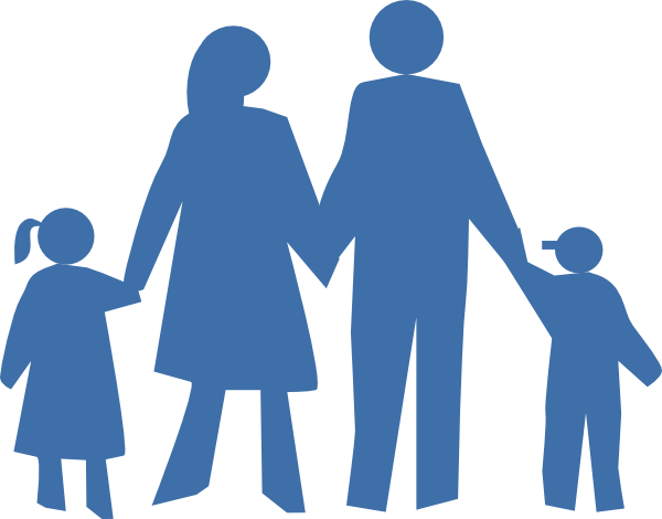silloutte clipart family