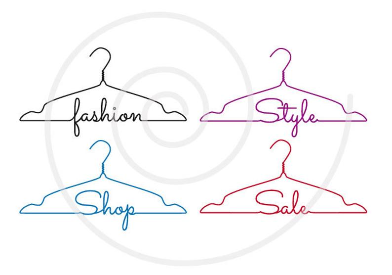 Fashion clipart hanger.