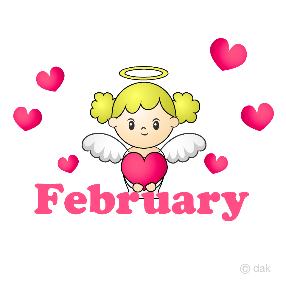 February clipart pink.