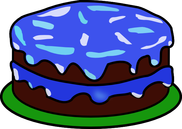 cake clipart blue