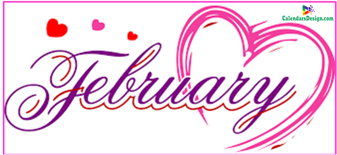 February clipart calendar page.