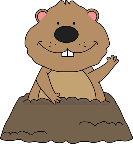 groundhog day clipart animated