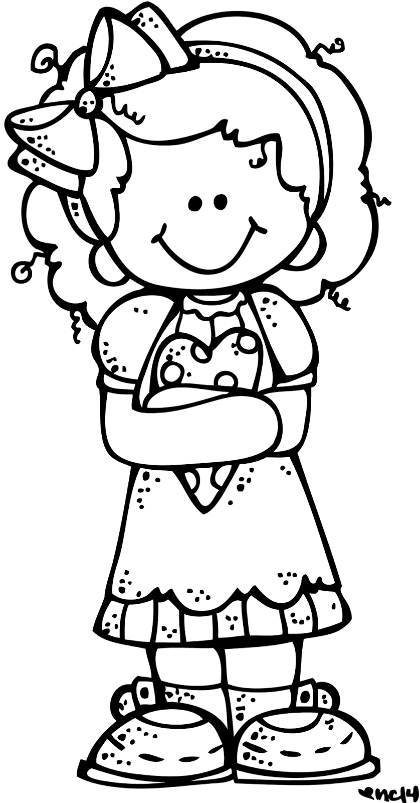February clipart coloring.