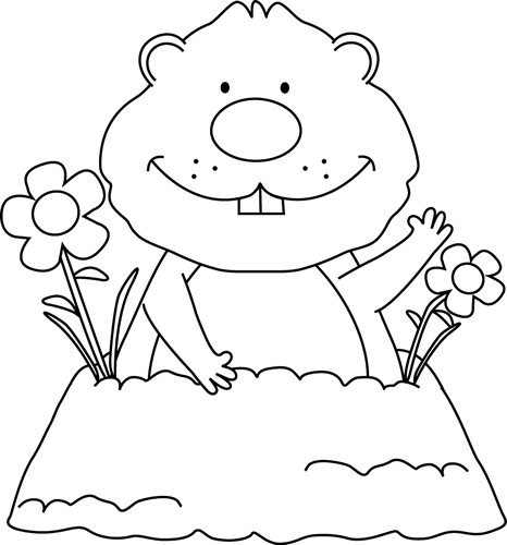groundhog day clipart spring