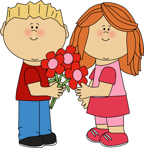 valentine day clipart free boy girl