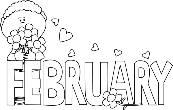 February clipart month.
