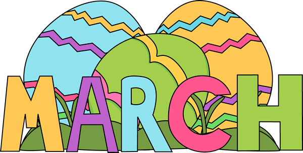 February clipart month name.