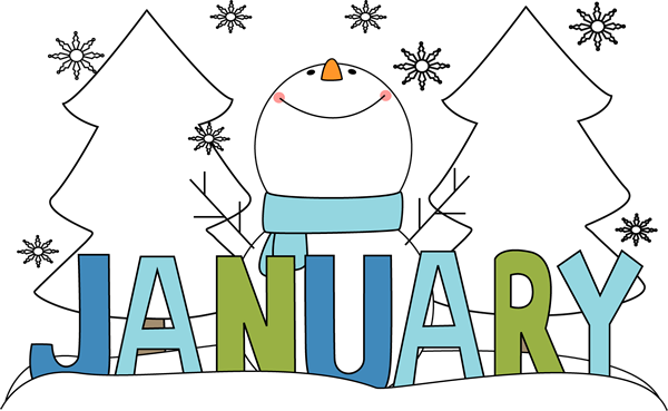 January clipart monthly.