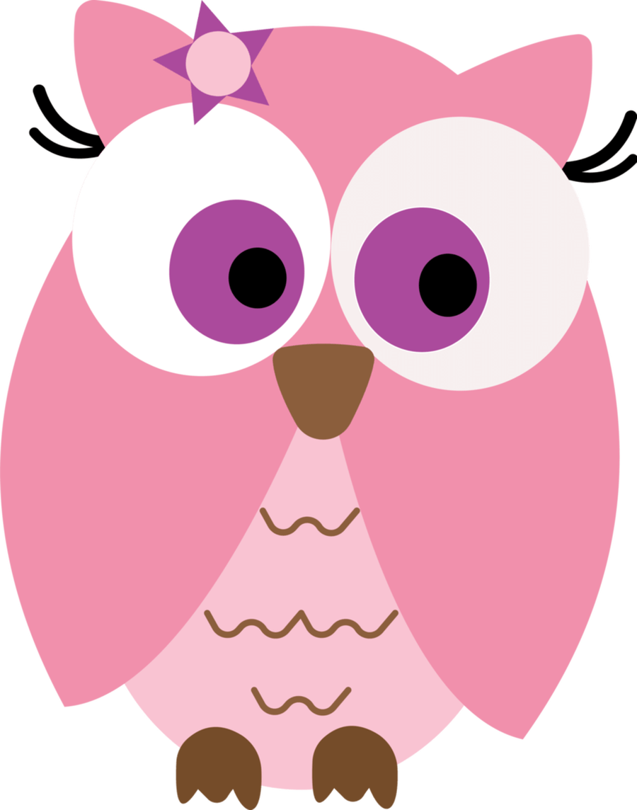 February clipart pink baby owl.