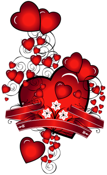 February clipart red.