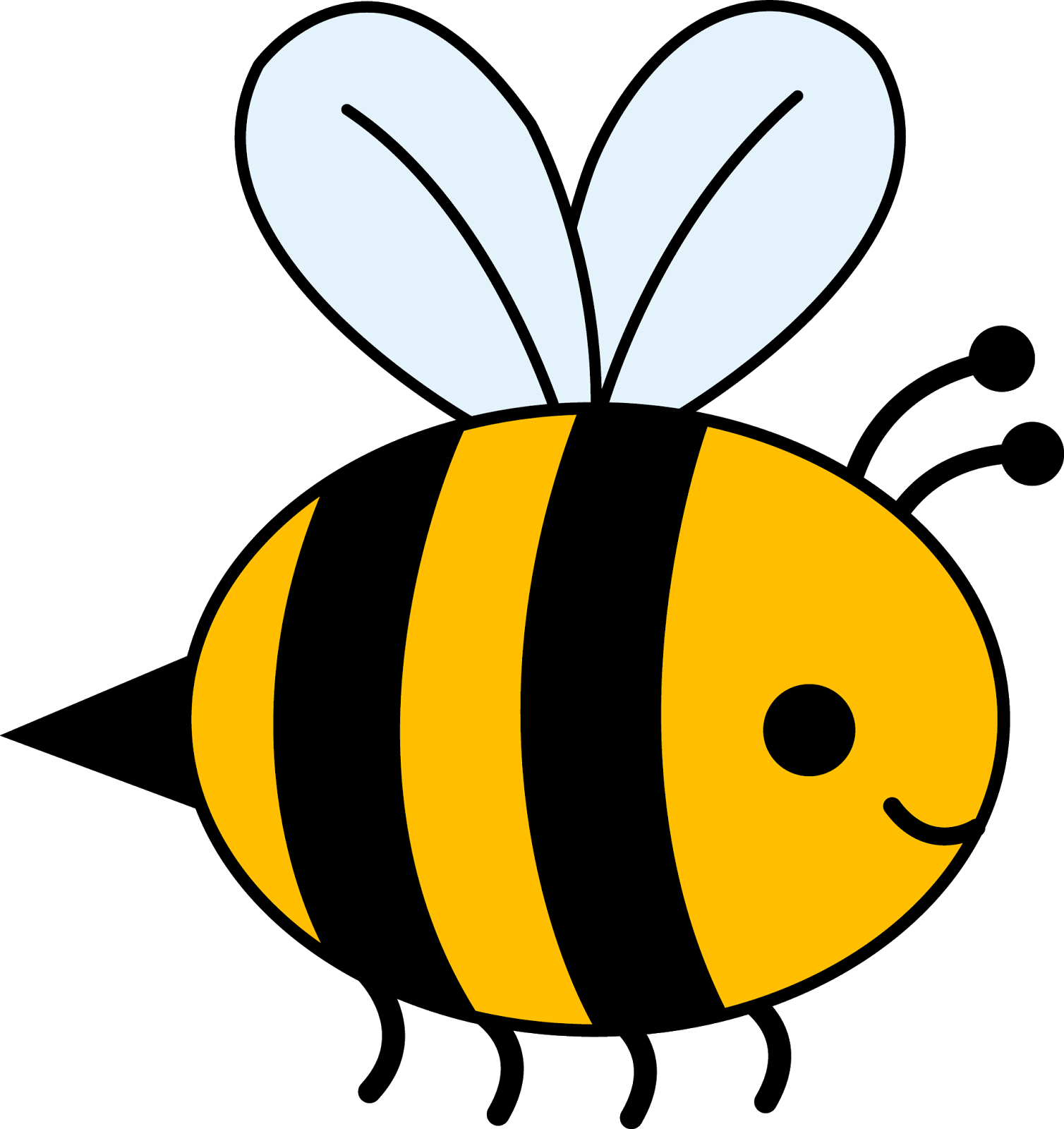 Beehive clipart q version.