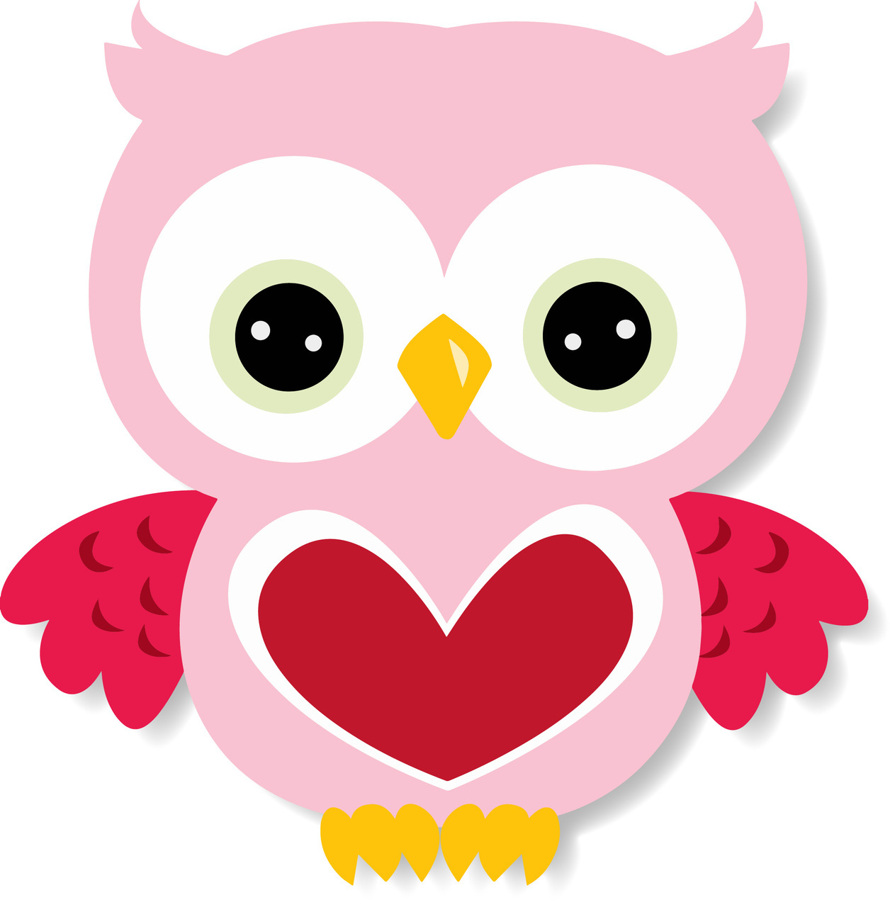 February clipart cute colorful owl.