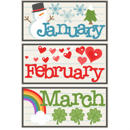 February clipart sign.