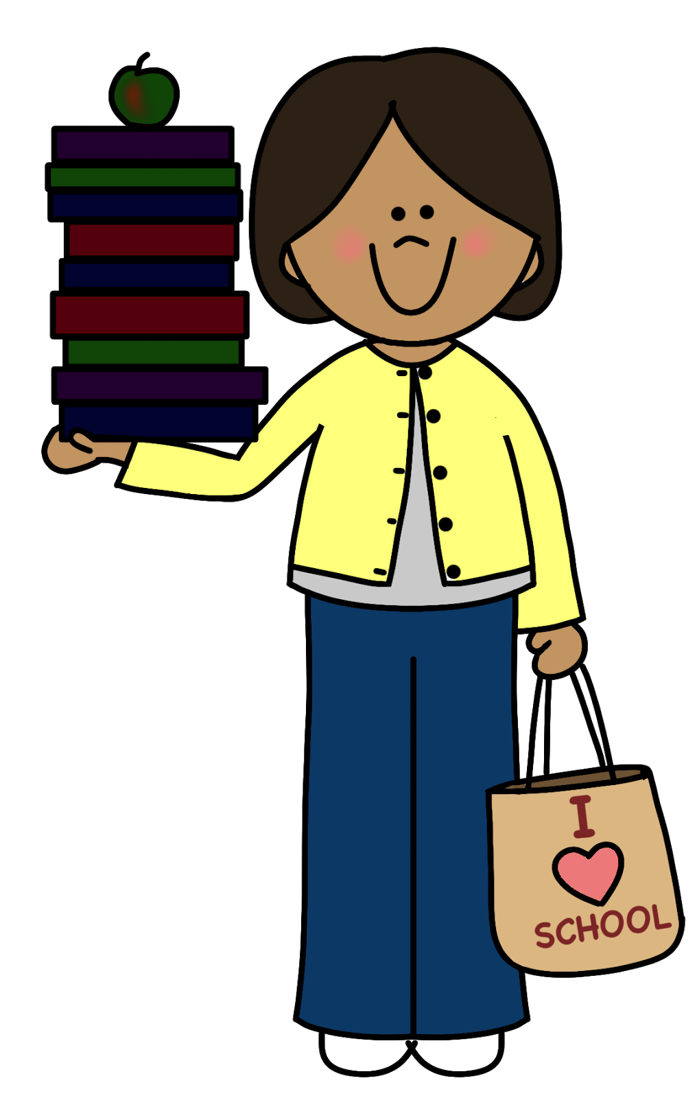 February clipart teacher.