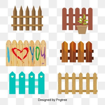 Fence clipart blue.