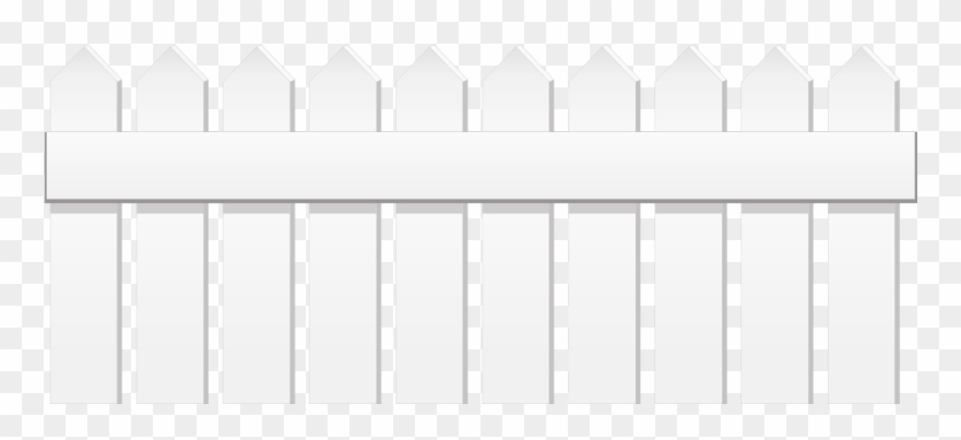 Fence clipart white.