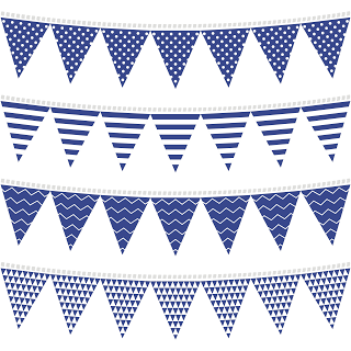 banderines clipart blue