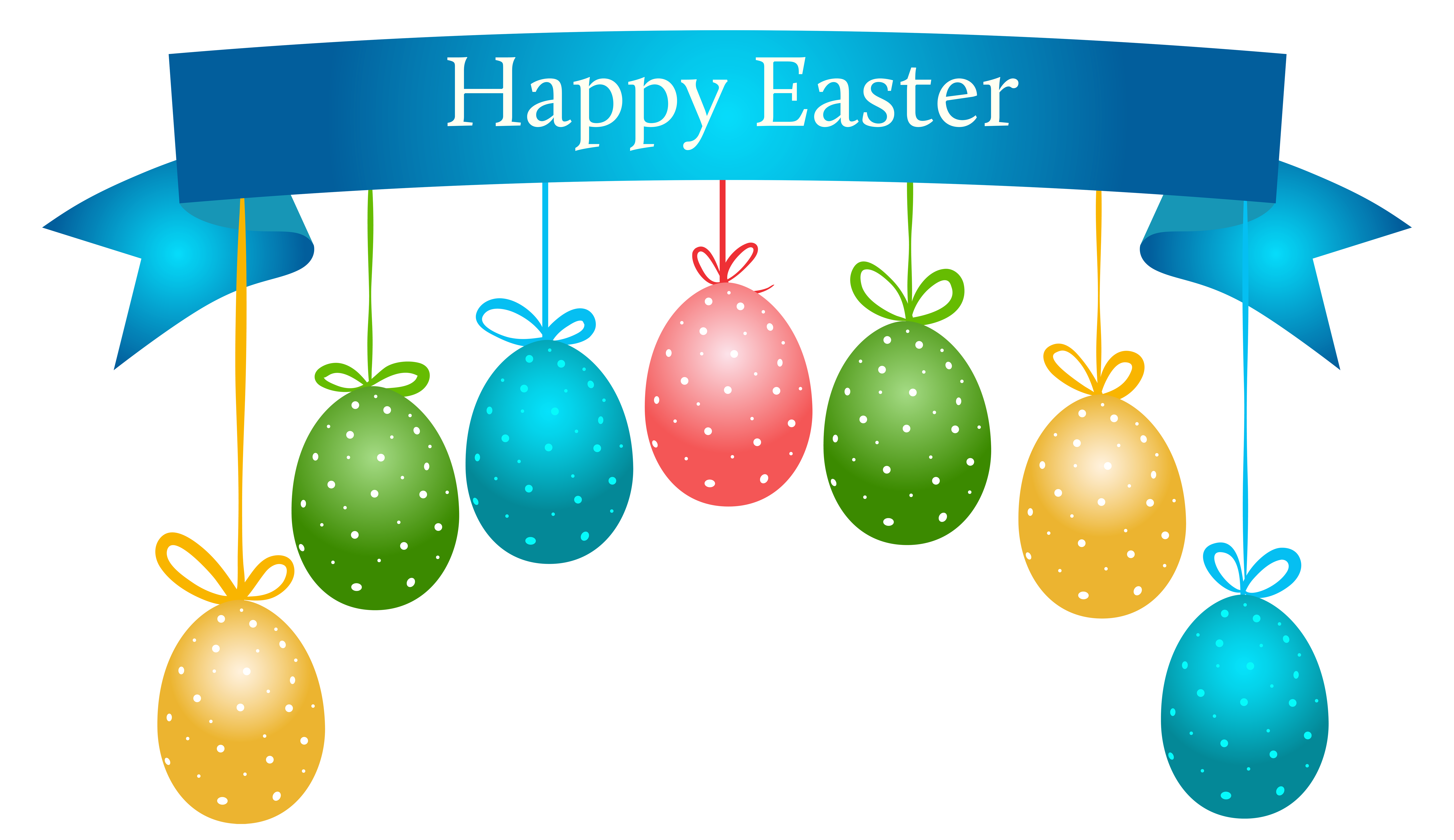 easter egg clipart banner