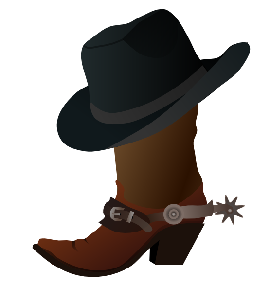 western clipart painting