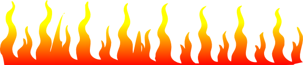 flame clipart border