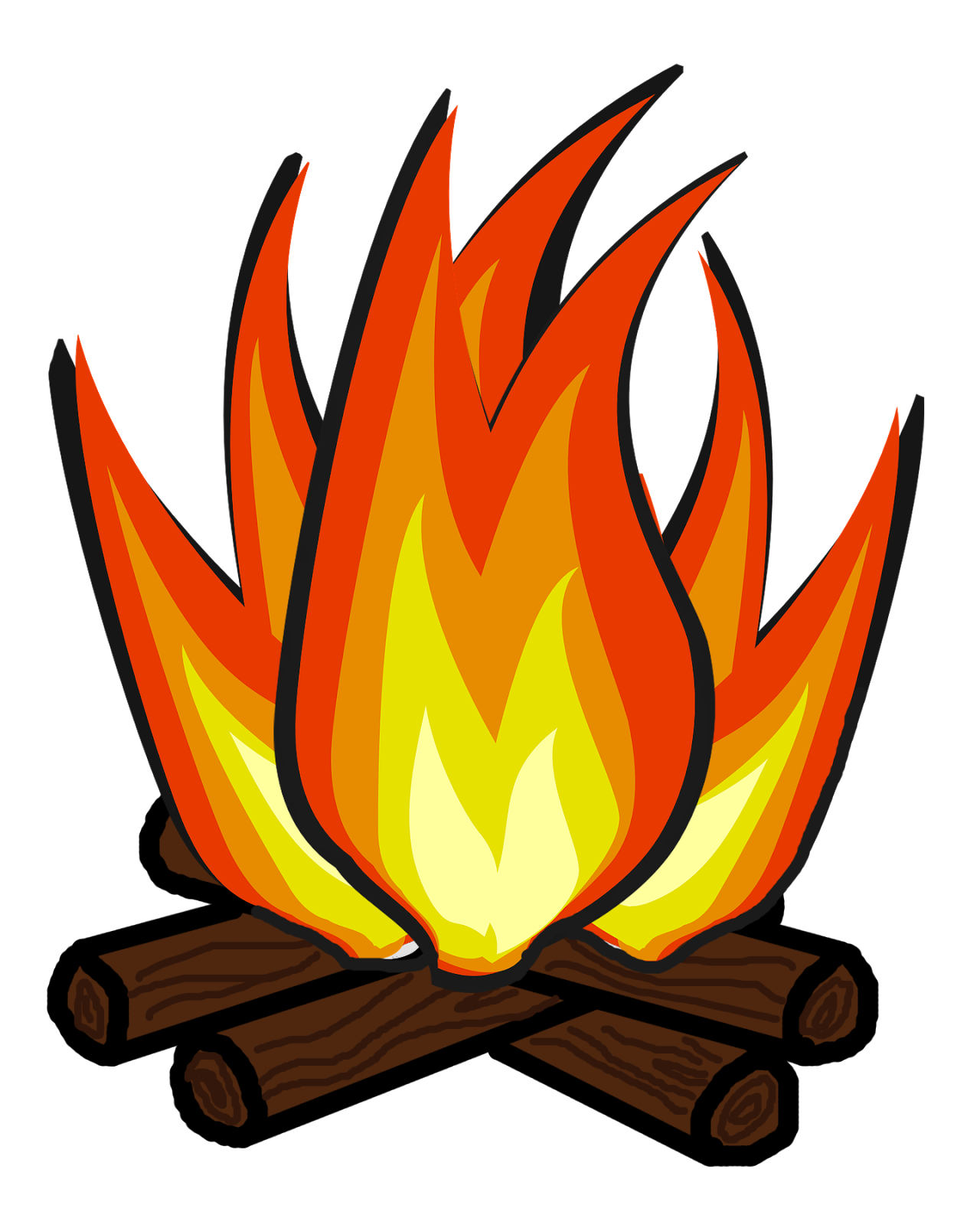 Bonfire clipart fireside.