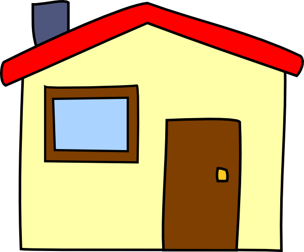 clipart houses simple