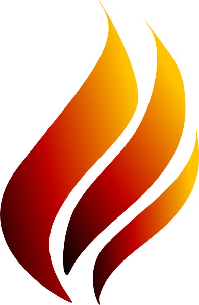 torch clipart flame