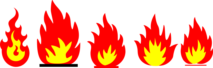flame cliparts border