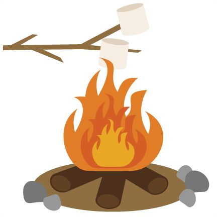 campfire clipart marshmallow