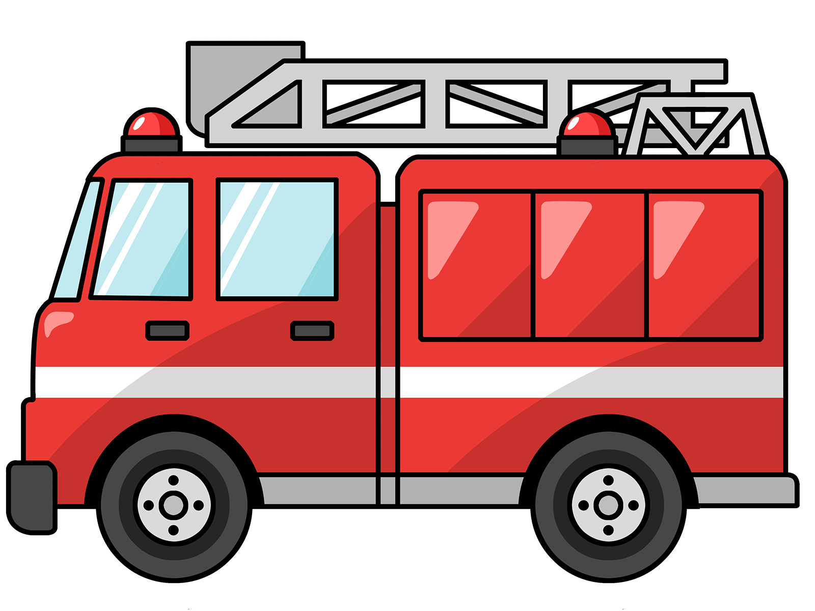 fire truck clipart printable