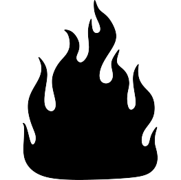 clipart flames silhouette