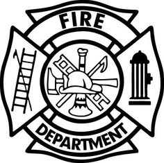 Firefighter clipart shield.