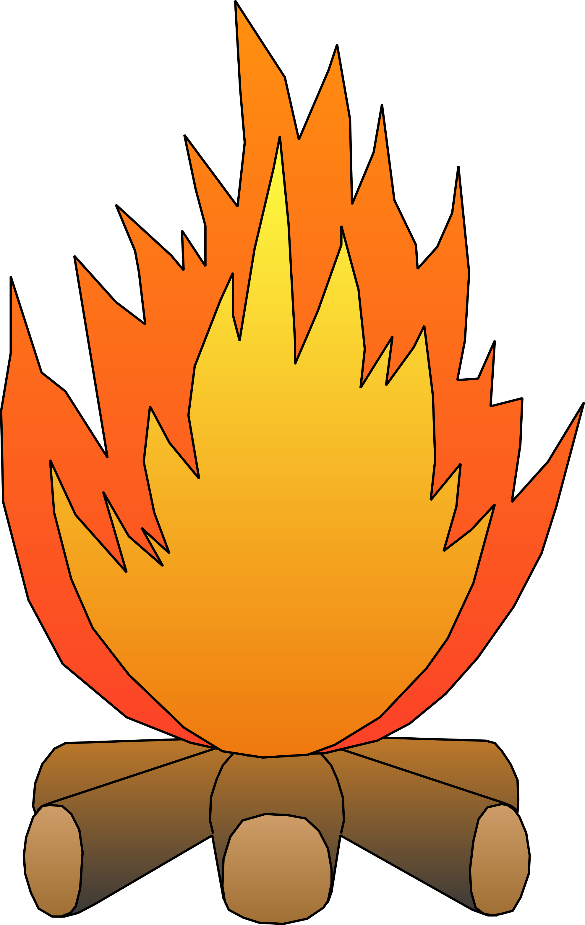 campfire clipart family