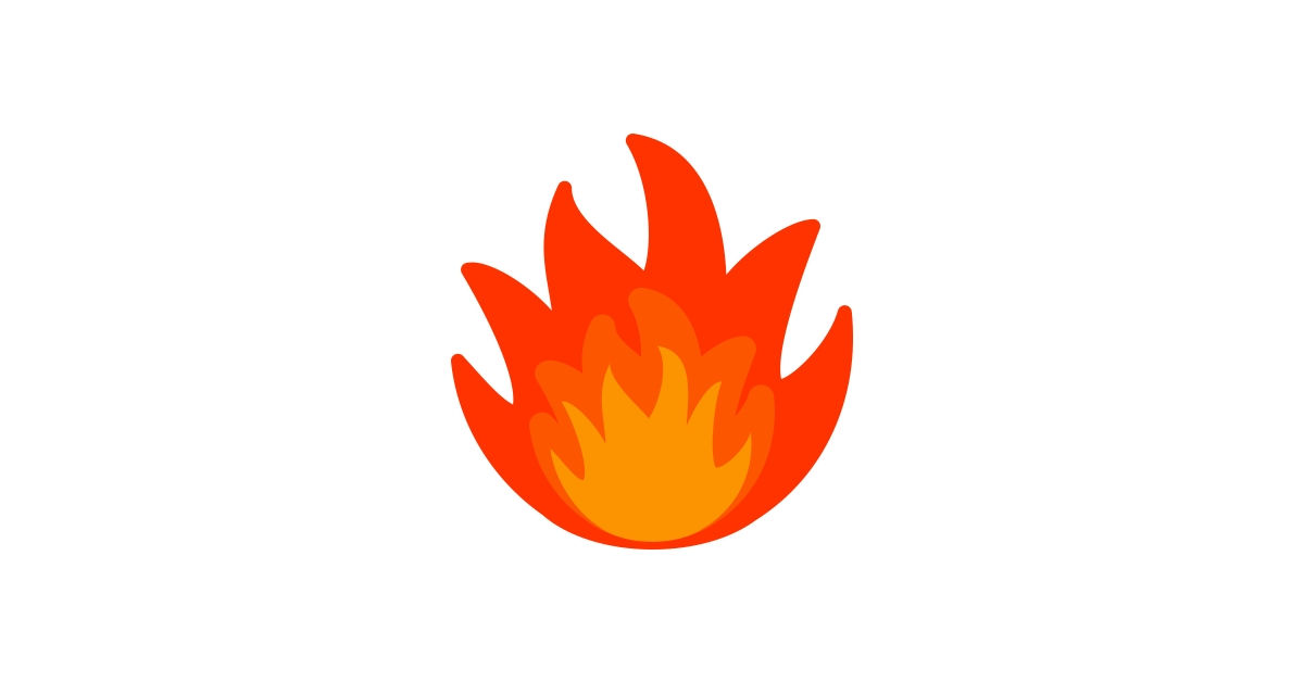 flame clipart red