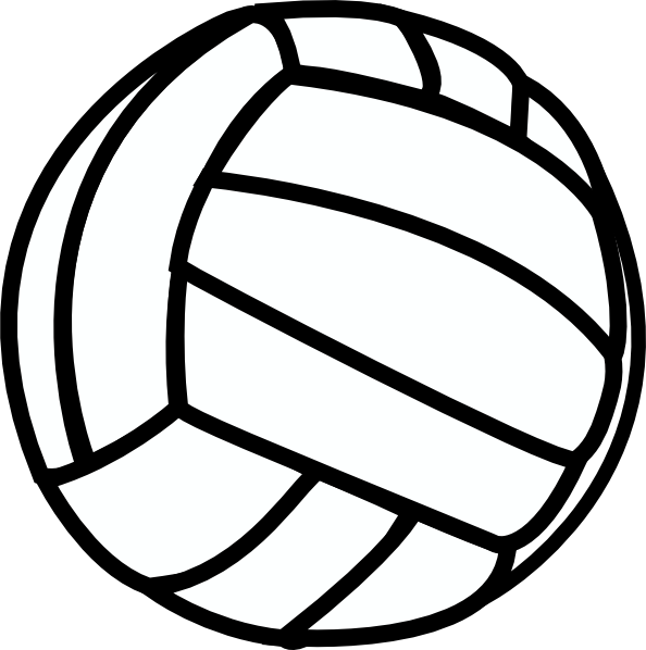 cool clipart volleyball