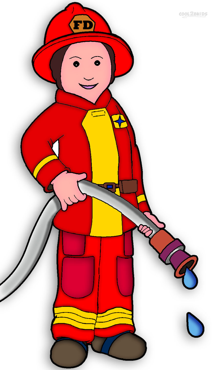 Firefighter clipart lady.