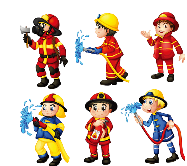 Firefighter clipart action clipart.