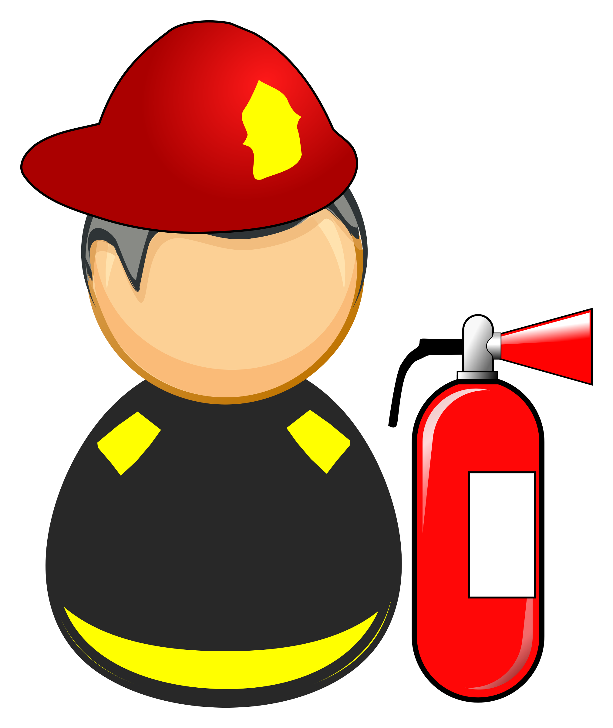 Firefighter clipart african american.
