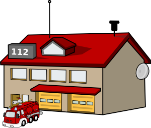 Firefighter clipart building.