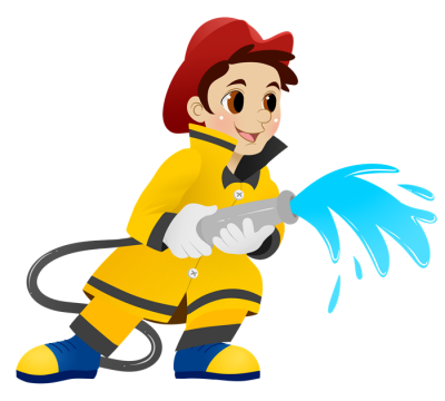 Firefighter clipart bumbero.