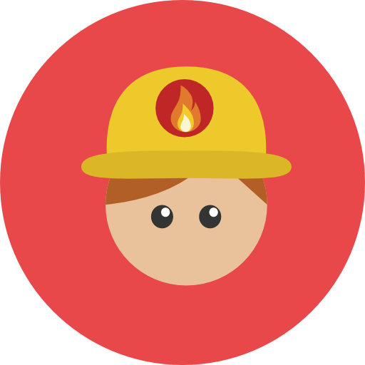 Firefighter clipart different occupation.