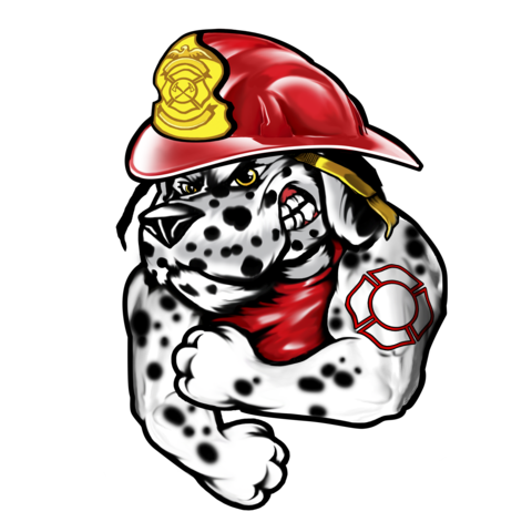 Firefighter clipart dog.