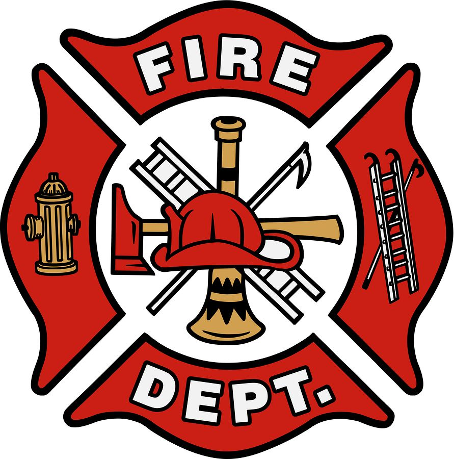 Firefighter clipart crest.