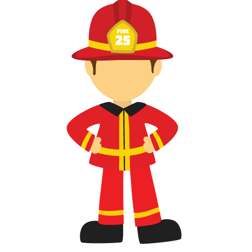 Firefighter clipart emergency service.