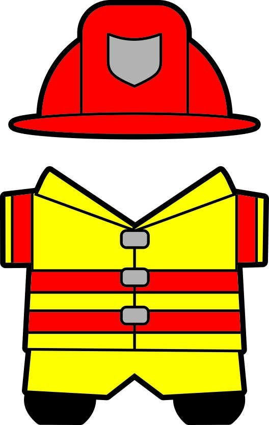 Firefighter clipart clothes.