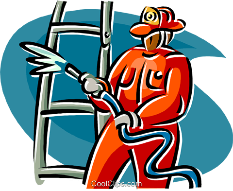 Firefighter clipart ladder.