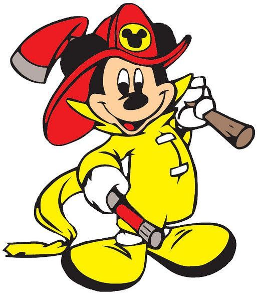 Firefighter clipart mickey mouse.